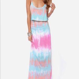 Tie Dye Lulus Maxi Dress